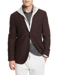 Brunello Cucinelli - Brown Deconstructed Three-button Sport Coat for Men - Lyst