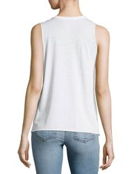 Chaser - White Reflected Butterfly Graphic Tank - Lyst