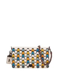 COACH - White Dinky Link Colorblock Crossbody Bag - Lyst