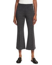 Rosetta Getty - Gray Mélange Wool Flare-leg Pants - Lyst