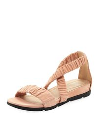 Eileen Fisher - Multicolor Dylan Tumbled Scrunched Sandals - Lyst