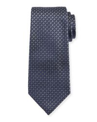 Giorgio Armani - Gray Mini-cross Medallion Silk Tie for Men - Lyst