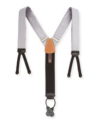 Trafalgar | Metallic Formal Herringbone Silk Braces for Men | Lyst
