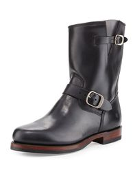 Frye - Black John Addison Leather Engineer Boot - Lyst