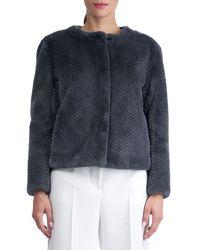 Gorski - Gray Round-neck Long-sleeve Beaver Fur Jacket - Lyst