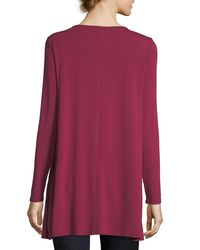 Eileen Fisher - Multicolor Round-neck Jersey Tunic - Lyst