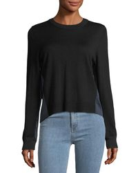 Rag & Bone - Black Sadie Crewneck Long-sleeve Merino Wool Sweater - Lyst