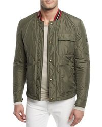 Belstaff - Green Haverford Quilted Bomber Jacket for Men - Lyst