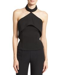 Brandon Maxwell - Black Molded Halter Top - Lyst