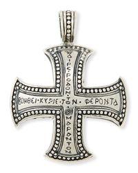 Konstantino - Metallic Men's Dare Sterling Silver Cross Pendant - Lyst
