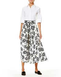 Carolina Herrera | Black Café Umbrella Midi Skirt | Lyst