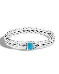 John Hardy - Metallic Men's Modern Chain Medium 9mm Sterling Silver & Turquoise Bracelet - Lyst