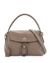 Valentino - Black Twiny Single-handle Rockstud Shoulder Bag - Lyst