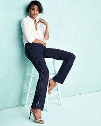CJ by Cookie Johnson - Black Faith Studded Straight-leg Jeans - Lyst