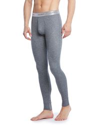 2xist - Gray Sport Tech Long John Pants for Men - Lyst