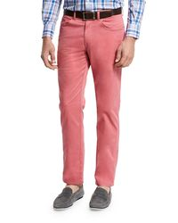 Peter Millar - Red Crown Five-pocket Stretch Sateen Pants for Men - Lyst