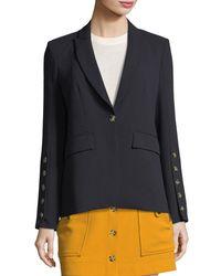 Veronica Beard - Blue Steele Cutaway Button-cuff Tailored Jacket - Lyst