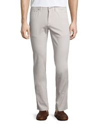 Peter Millar | Gray Five-pocket Stretch-cotton Pants for Men | Lyst