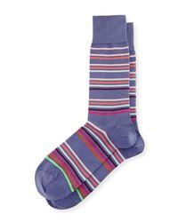 Paul Smith - Purple Mondo Multicolor-stripe Socks for Men - Lyst
