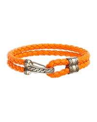 John Hardy - Orange Classic Chain Men's Hook-station Bracelet for Men - Lyst