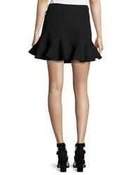 10 Crosby Derek Lam - Black Stretch Jersey Fit-and-flare Mini Skirt - Lyst