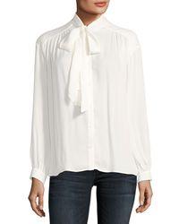 Joie - White Esti Long-sleeve Silk Top - Lyst