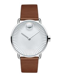 Movado - Multicolor 40mm Edge Watch With Leather Strap for Men - Lyst