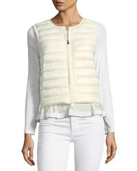 Moncler - White Maglia Down/feather Filled Vest - Lyst
