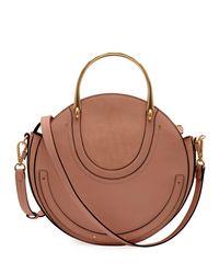 Chloé - Brown Pixie Medium Round Shoulder Bag - Lyst