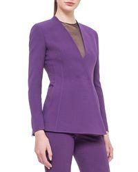 Akris - Purple Asymmetric Snap-front Cardigan Jacket - Lyst