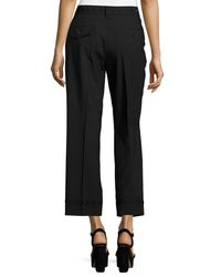 Marc Jacobs | Black Studded Straight-leg Trousers | Lyst