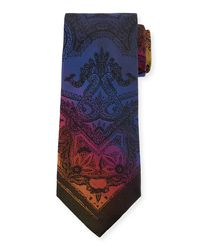 Etro - Blue Tom Piazzata 8cm Silk Tie for Men - Lyst