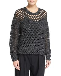 IRO | Black Montero Netted Pullover Sweater | Lyst