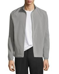 Peter Millar - Gray Cabot Stretch-woven Zip Jacket for Men - Lyst