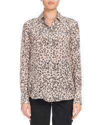 Altuzarra - Multicolor Chika Long-sleeve Button-front Leopard-print Silk Shirt - Lyst
