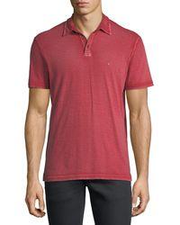 John Varvatos - Blue Short-sleeve Peace Polo Shirt for Men - Lyst