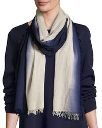 Eileen Fisher | Blue Silk Cashmere Ombre Scarf | Lyst