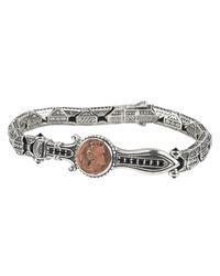 Konstantino - Metallic Men's Sterling Silver & Copper Bracelet W/spinel for Men - Lyst