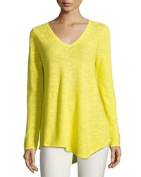Eileen Fisher | Yellow Long-sleeve Organic Links Tunic | Lyst