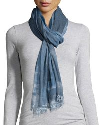 Eileen Fisher | Blue Hand-dyed Modal/silk Ombre Scarf | Lyst