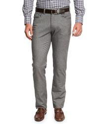 Peter Millar - Gray Crown Mountainside Flannel 5-pocket Pants for Men - Lyst