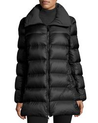 Moncler - Black Torcyn Quilted Wool-lined Puffer Coat - Lyst