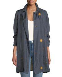 La Prestic Ouiston - Black Paris Dot-print Silk Jacket With Contrast Back - Lyst