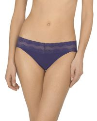 Natori - Purple Bliss Perfection V-kini Briefs (one Size) - Lyst