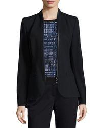 ESCADA - Blue Zip-around Jersey Jacket - Lyst