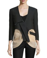 CoSTUME NATIONAL - Black Two-Tone Cotton-Blend Jacket - Lyst