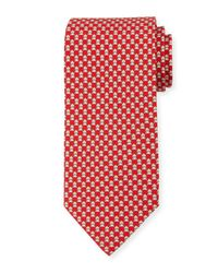 Ferragamo - Red Frog-print Silk Twill Tie for Men - Lyst