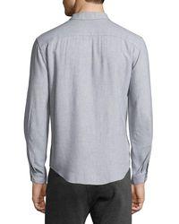 ATM   Blue Utility-pocket Long-sleeve Shirt for Men   Lyst