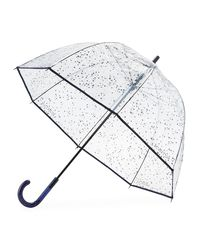 Hunter - Pink Transparent Moustache Bubble Umbrella - Lyst