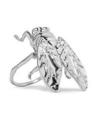 Balenciaga - Metallic Bug Silver-tone Ring - Lyst